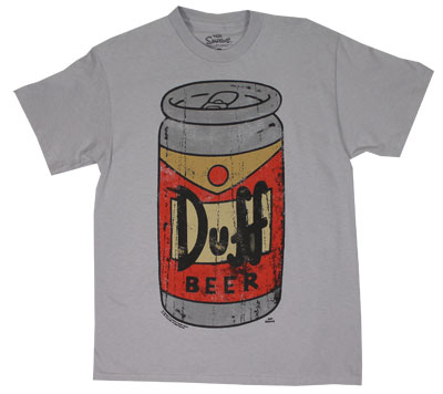 Distressed Duff Can - Simpsons T-shirt