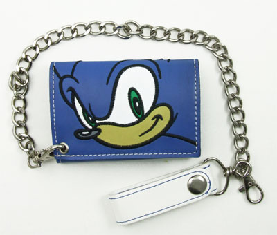 Sonic Face - Sonic The Hedgehog Chain Wallet