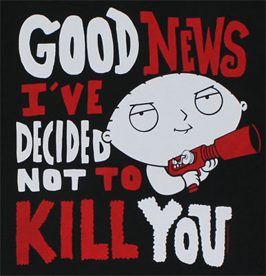 Good News - Stewie - Family Guy T-shirt