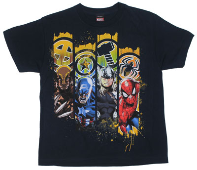Lined Up - Marvel Comics T-shirt