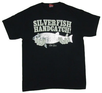 Silver Fish Hand Catch - Old Spice T-shirt