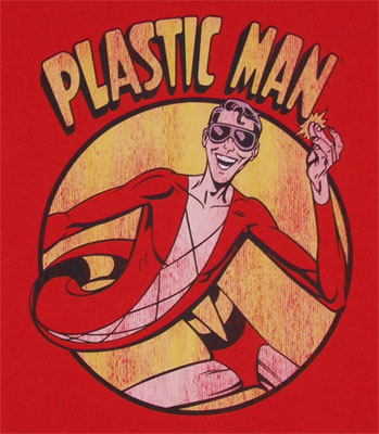 Plastic Man In Circle - DC Comics T-shirt