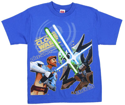 The Battle - Star Wars Clone Wars Boys T-shirt