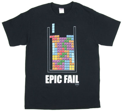 Epic Fail - Tetris T-shirt
