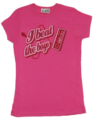 I Beat The Boys - Nintendo Sheer Womens T-shirt