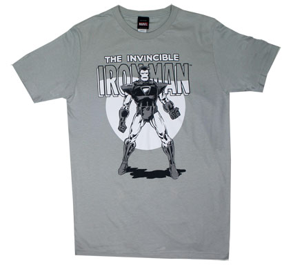 Black And White Iron Man - Marvel Comics Sheer T-shirt