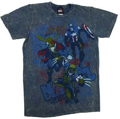 One Nine Ops - Marvel Comics Sheer Mineral Wash T-shirt