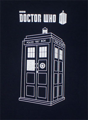 Tardis Sketch - Dr. Who T-shirt