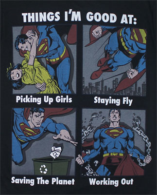 Things I'm Good At - DC Comics T-shirt