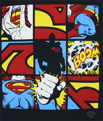 Superman Grid - DC Comics T-shirt
