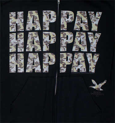 Hap-pay Hap-pay Hap-pay - Duck Dynasty Hooded Sweatshirt