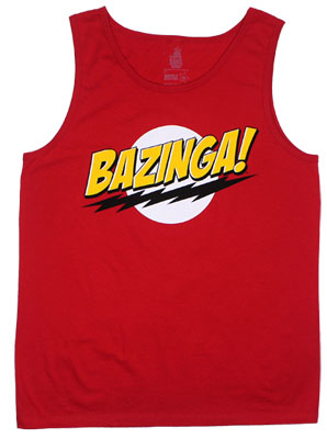 Bazinga! - Big Bang Theory Tank Top