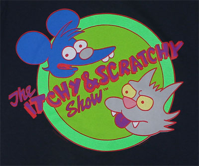 Itchy And Scratchy - Simpsons Sheer T-shirt