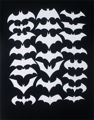 White Batman Logos - DC Comics T-shirt