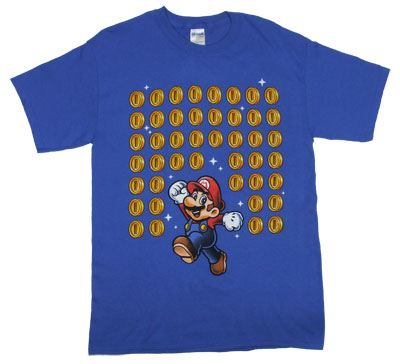Mario With Coins - Nintendo T-shirt