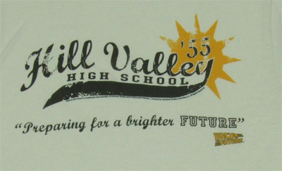 Hill Valley High School - Back To The Future Sheer T-shirt