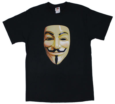 Color Mask - V For Vendetta T-shirt