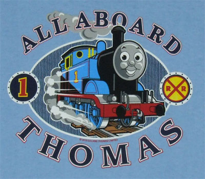 Oval All Aboard - Thomas The Tank Engine Juvenile And Toddler T-shirt
