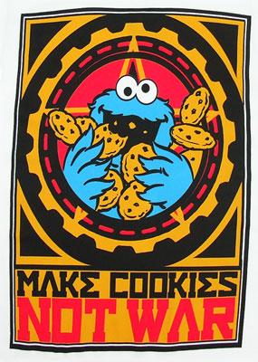 Make Cookies Not War - Cookie Monster - Sesame Street Sheer T-shirt