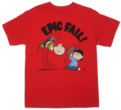 Epic Fail! - Peanuts T-shirt