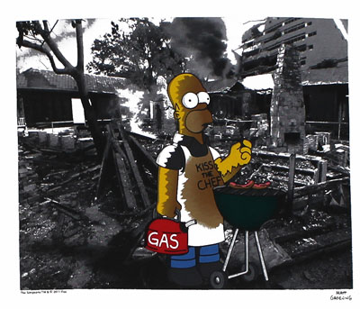 Homer BBQ - Simpsons T-shirt