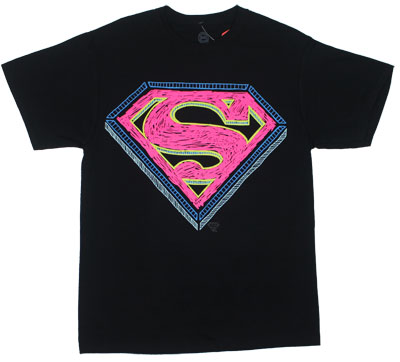 Superman Scribble Logo - DC Comics T-shirt