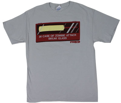 In Case Of Zombie Attack - Shaun Of The Dead T-shirt