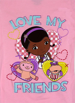 Love My Friends - Doc McStuffins Girls T-shirt