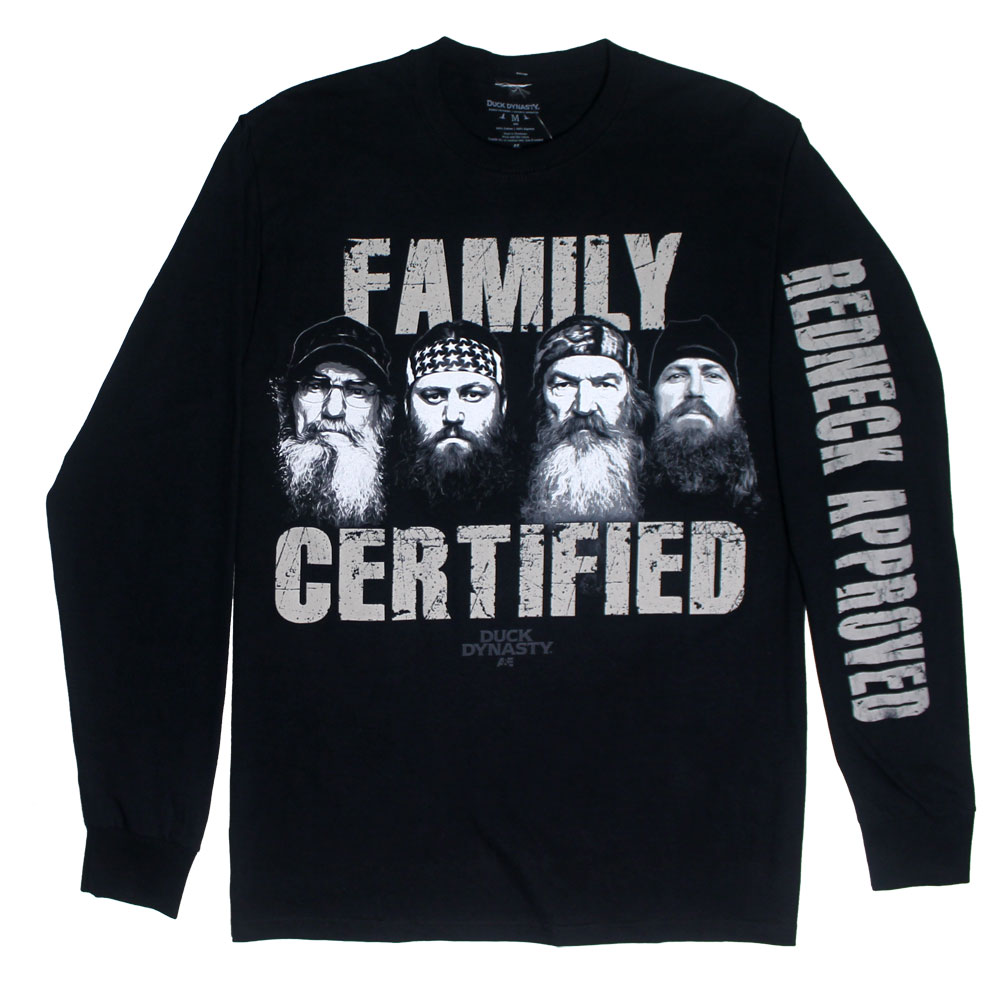 Family Certified - Duck Dynasty Long Sleeve T-shirt