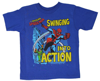 Swinging Into Action - Marvel Comics Juvenile T-shirt