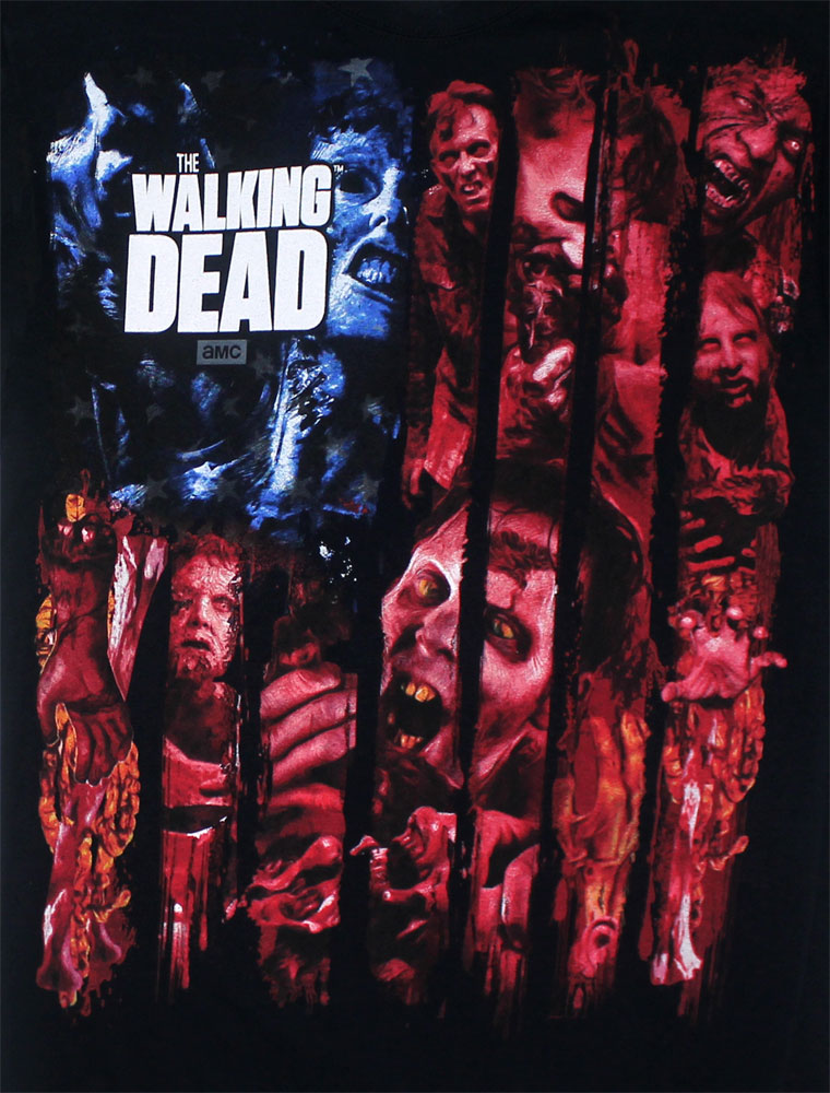 Walker Flag Montage - Walking Dead T-shirt