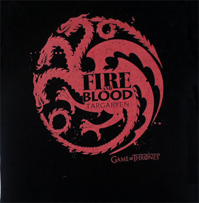 Fire And Blood - Game Of Thrones Juniors T-shirt