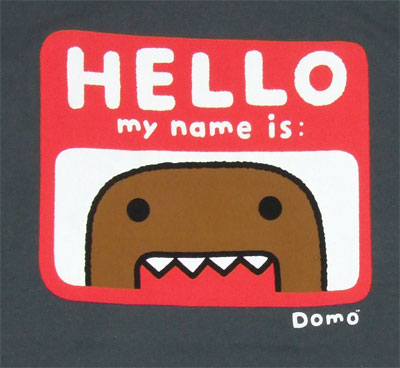 Hello My Name Is Domo - Domo-Kun T-shirt