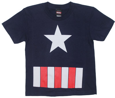 Captain America Costume - Marvel Comics Juvenile T-shirt