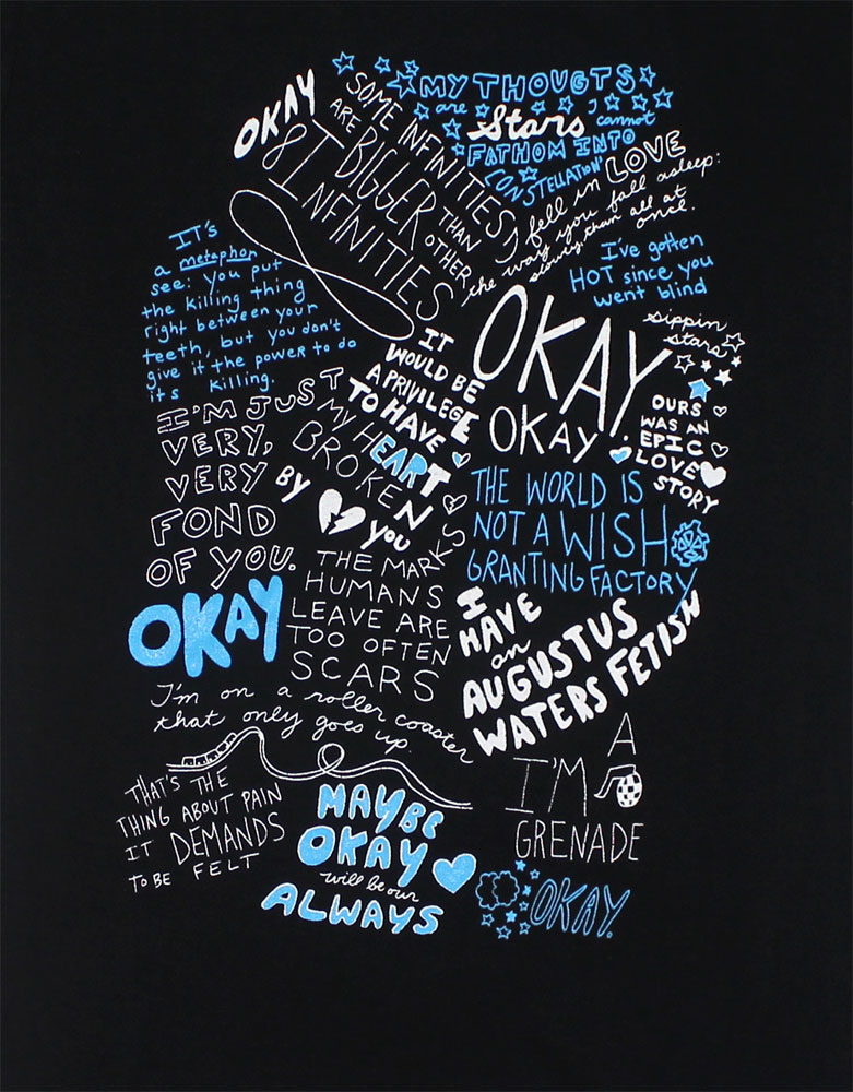 Okay Drawing - The Fault In Our Stars Juniors T-shirt