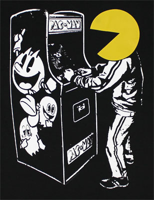 Pac-Man Playing Pac-Man - Pac-Man T-shirt