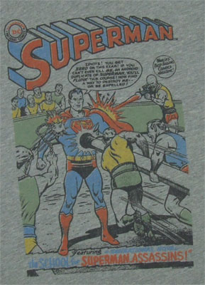 Vintage Comic - Superman - Junk Food Men's T-shirt