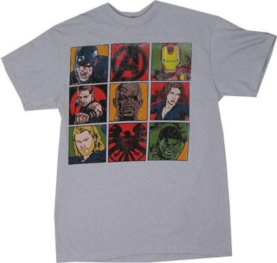 Square Avengers - Avengers T-shirt