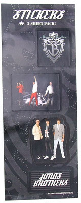 Jonas Brothers Sticker Pack 1