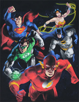 Painted Group - DC Comics T-shirt