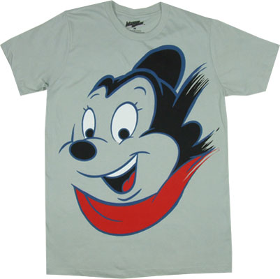 Mighty Mouse Face - Mighty Mouse Sheer T-shirt