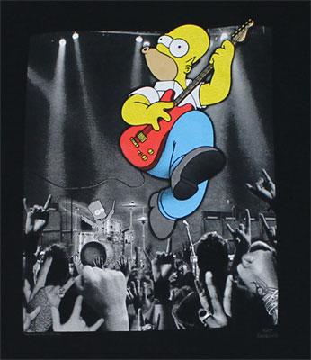 Crowd Rocking Homer - Simpsons T-shirt