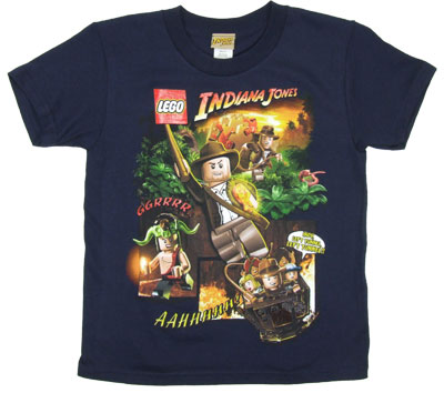 Fighting Obstacles - LEGO Indiana Jones Juvenile T-shirt