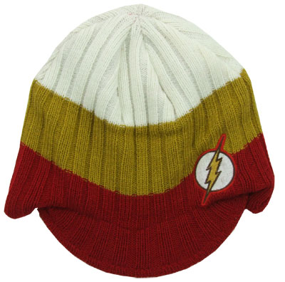 Flash Logo - DC Comics Billed Knit Hat