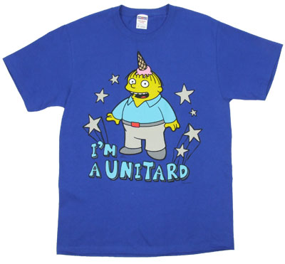 I&#039;m A Unitard - Ralph Wiggum - Simpsons T-shirt