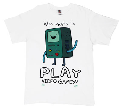 Who Wants To Play Video Games? - Adventure Time T-shirt