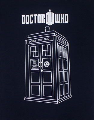 Tardis Sketch - Dr. Who Juniors T-shirt