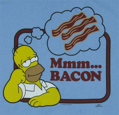 bacon homer simpson