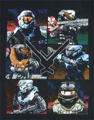 Six Frames - Halo Reach T-shirt