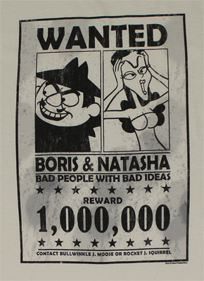 Wanted - Rocky And Bullwinkle Sheer T-shirt